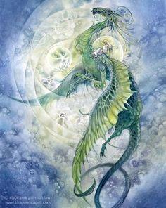 Green Dragon artwork.
