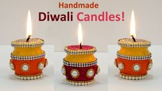 How about making beautiful handmade candles this Diwali? Yes, making candles at home is a fun activity. You can creatively utilise your time by making wax candl Kalash Decoration, Thali Decoration Ideas, Diy Diwali Decorations, Diy Wedding Decorations, Diya Designs, Rangoli Designs Diwali, Diwali Diya, Diwali Craft, Art And Craft Videos