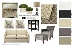 The Yellow Cape Cod: Clean and Calm~Gray and tan living room