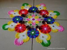 (7) Best rangoli for diwali | Easy rangoli designs by Poonam Borkar - YouTube