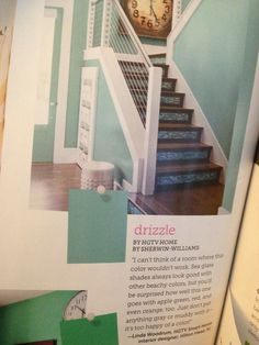 Drizzle by sherwin Williams. A fun aqua blue- maybe for the spare bedroom with some yellow accents