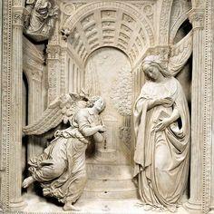Altarbild der Verkündigung (Detail) | Benedetto Da Maiano | 1442 - 1497 | Mastrogiudici Chapel, Sant'Anna dei Lombardi (Naples, Italy)