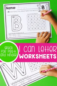 Work through each letter of the alphabet one letter at a time with these I Can Letter printable worksheets! They're great for Pre-K and Kinder! I Can Letter Worksheets | Alphabet Worksheets | Letter Worksheets | Alphabet Printables | Letter Recognition | Pre-K Alphabet Activities | Life Over C's #alphabet #letterrecognition #worksheets #prekprintable #kindergartenprintable #letterwriting #lifeovercs Free Printable Alphabet Worksheets, Printable Alphabet Letters, Letter Worksheets, Uppercase And Lowercase Letters, Printables, Teaching Letter Recognition, Teaching Letters, Basic Drawing For Kids, Letter Flashcards