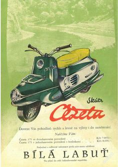 jawa čz Motorcycle Posters, Motorcycle Art, Motorcycle Design, Moped Scooter, Vespa Scooters, Vintage Motorcycles, Cars And Motorcycles, Vintage Ads, Vintage Posters