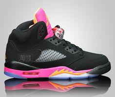 Air Jordan 5 GS – Black / Pink – Orange First Look | KicksOnFire