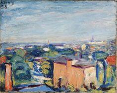 Hans Körnig. Blick zur Stadt (Frankreich-Landschaft), Öl auf Leinwand, 1938