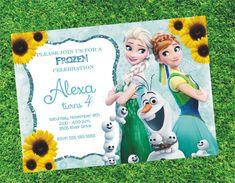 Frozen Fever Birthday Invitation Printable Frozen by digiangie