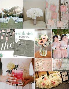 Pink Gray Black Wedding   Flickr - Photo Sharing!