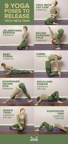 9 soothing yoga exercises to relieve your technical neck pain - yoga & fitness -. - 9 soothing yoga exercises to relieve your technical neck pain – yoga & fitness – best yoga poses - Yoga Fitness, Fitness Workouts, Fitness Tips, Fitness Motivation, Health Fitness, Physical Fitness, Muscle Fitness, Fitness Logo, Easy Fitness