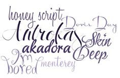 Modern Calligraphy Fonts  ~~ {7 Free fonts w/ links}