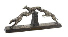 A French Art Deco bronze animalier group.