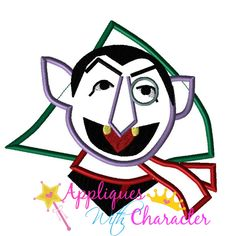 Sesame Christmas Count Dracula Street Applique Embroidery Machine Design 4 Hoop sizes Instant Download by appliqueswcharacter on Etsy