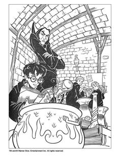 Harry Potter Color Page Cartoon Characters Coloring Pages For Kids Thousands Of Free Printable