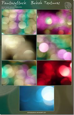 Bokeh Textures #photoshop #textures