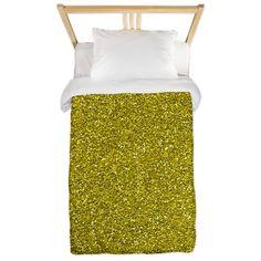 Gold Glitter Twin Duvet on CafePress.com