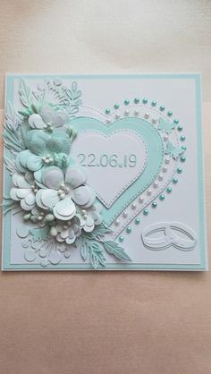 Most recent Totally Free Scrapbooking Paper wedding Tips Scrapbook is a niche unto themselves around latest years. Wedding Day Cards, Wedding Cards Handmade, Wedding Anniversary Cards, Handmade Birthday Cards, Greeting Cards Handmade, Handmade Engagement Cards, Pretty Cards, Love Cards, Wedding Scrapbook