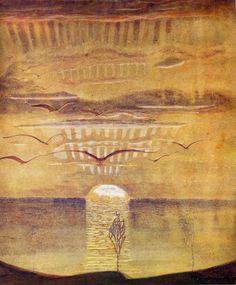 Sunset - Mikalojus Konstantinas Čiurlionis, 1908