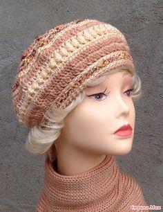 """Вязаное трио """"Шиповник"""" комплект. Шапка, берет и снуд. Ear Warmers, Headgear, Hats For Women, Fingerless Gloves, Hand Knitting, Headbands, Projects To Try, Scarves, Crochet Hats"""