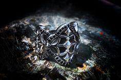PAKIN:Gothic Ring 2,925 Sterling Silver. www.guruwan.com/shops/pakin.html #pakin #pakinsince2012 #modern #antique #gothic #baroque #warrior #knight #cross #men #lady #style #unique #metrosexual #gay #fashion #model #medieval IG@pakinsince2012