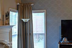 DIY Corner Curtain Rod- PlumDoodles.com