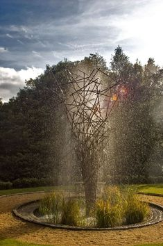 "An intriguing integration of functional water feature and sculpture is the ""Fountain Twiggy Water"".  Photo credit: Giles Rayner"