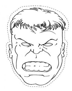 The Head Of Hulk Coloring Pages