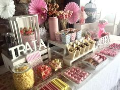 Candy Bar Comunion, Ice Cream Party, Candy Table, Birthday Design, First Holy Communion, Baby Birthday, Birthday Decorations, Love Food, Baby Shower