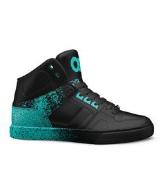 Loving this Green & Black NYC 83 Leather High-Top Sneaker - Kids on #zulily! #zulilyfinds