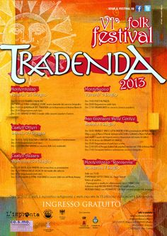 Manifesto della VI edizione del Tradenda Folk Festival.