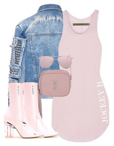Untitled #698 by styledbyjoceeyb on Polyvore featuring polyvore, fashion, style, Enza Costa, Yves Saint Laurent, Le Specs and clothing