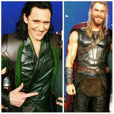I'm very partial to a leather jacket.  — A sneak peak at the new Loki and Thor costumes for...