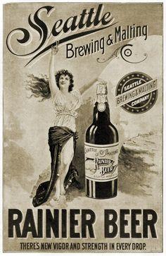 Vintage Rainier Beer Advertisement.