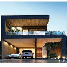 inspiring modern house design ideas 2019 14 – Willkommen in meiner Welt House Front Design, Bungalow House Design, Modern House Design, Contemporary Design, Residential Architecture, Architecture Design, Modern Architecture House, Beautiful Modern Homes, Modern Architects