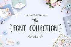 The Font Collection Volume III from FontBundles.net Ttf Fonts, Typography Fonts, Lettering, Font Design, Blog Design, Graphic Design, Nice Fonts, Pretty Fonts, Creative Market Fonts