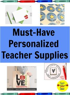 Looking for a gift for a special teacher or a new treat for your own classroom? These personalized teacher supplies are great additions to any classroom. First Year Teaching, Teaching Schools, Elementary Schools, Teaching Tips, Personalized Teacher Gifts, Great Teacher Gifts, Best Teacher, Teaching Supplies, Classroom Supplies
