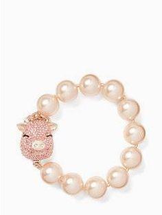 imagination pearl pig bracelet by kate spade new york