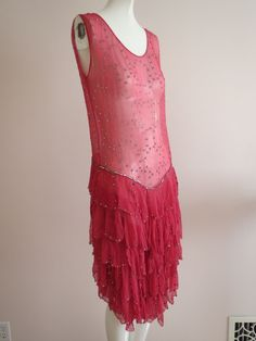 1920s chiffon dress