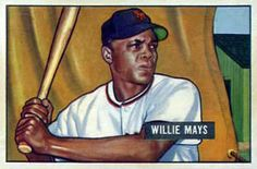 1951 Bowman #305 Willie Mays Front