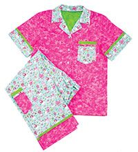 Princess PJ's      Summer means sleepover time! Any girl will be the belle of the ball with these pretty pj's at her next slumber party.    Serged-to-perfection, perky pink pajamas in a poodle print will make any princess pleased as punch -- as long as there are no peas under the mattress.
