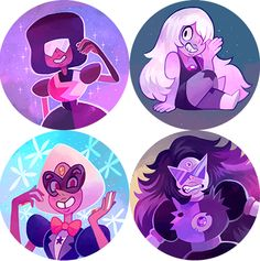 I made a bunch of Steven Universe buttons for Anime Expo this year and just remembered to post that they're in my shop now!