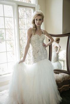 Sarah Houston Wedding Dresses 2015. To see more: http://www.modwedding.com/2014/08/12/sarah-houston-wedding-dresses-2015/ #wedding #weddings #wedding_dress