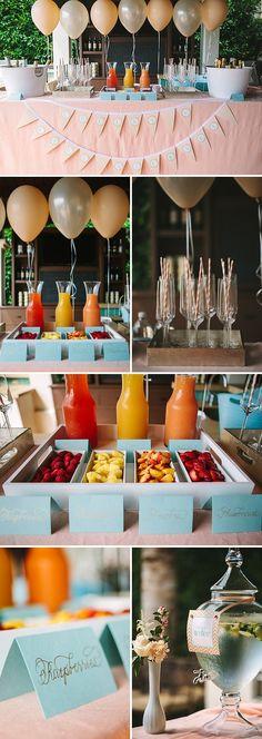 Mimosa bar for bridal shower