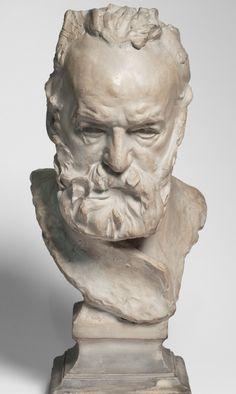 Plaster of Victor Hugo by Auguste Rodin, ca. 1883, Bronze, Paris. iL