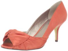 Possibility for shoes. Now, do I want blue or orange? The wedding party gets whatever color I don't choose!