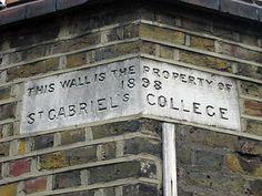 Back wall of former St Gabriel's College (CofE Teacher Training), Camberwell London April 2007 Camberwell London, Camberwell College Of Arts, Saint Gabriel, Brixton, Fields, Teacher, Training, Memories, Ceramics