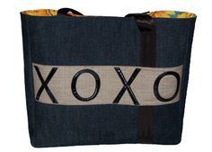 XOXO Tote – HKelly designs  Don't miss out on these great totes, two in stock!