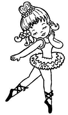 Dibujo de Bailarina de ballet para Pintar y Colorear en Lnea