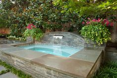 Love this backyard spa. Might work as a little plunge pool, too.