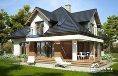 Hermiona Nowa II - Dobre Domy Flak & Abramowicz House Construction Plan, Home Fashion, Gazebo, Shed, Outdoor Structures, House Styles, Outdoor Decor, Houses, Home Decor