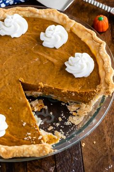 Seriously Easy Pumpkin Pie Recipe - Crazy for Crust Easy Pumpkin Pie, Pumpkin Pie Recipes, Canned Pumpkin, Easy Pie Recipes, Pie Crust Recipes, Rice Recipes, Simple Pie, All Butter Pie Crust, Delicious Desserts